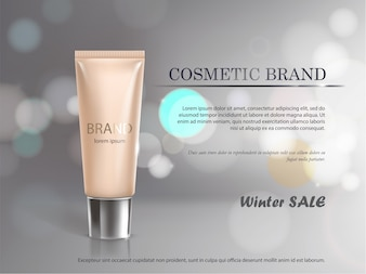 Poster for the promotion of cosmetic moisturizing premium product