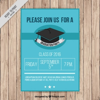Poster of graduation party