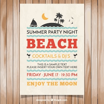 Poster of summer party