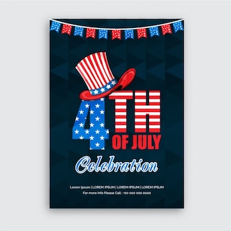 Poster template for independence day celebration
