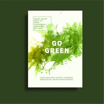 Poster template in green tones