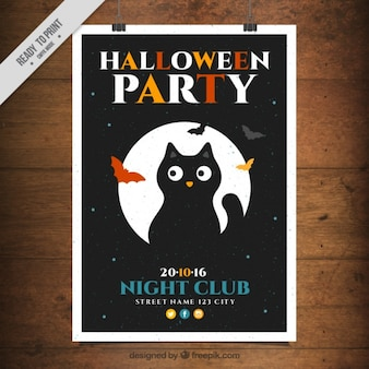 Poster template with a black cat