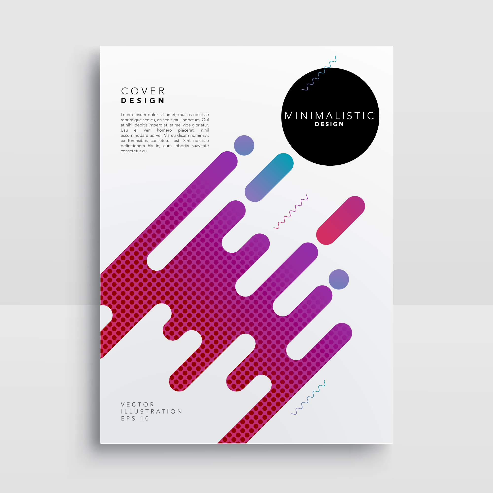 Poster with abstract shapes