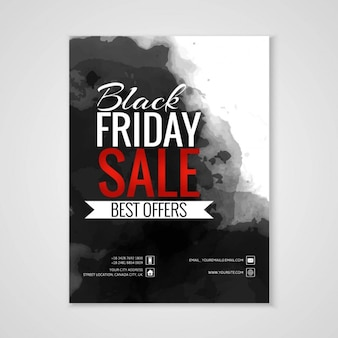Poster with black ink for black friday