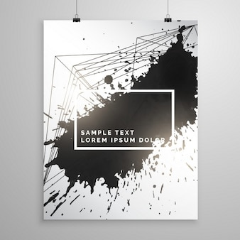 Poster with black ink