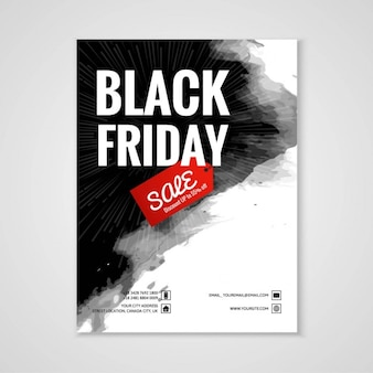 Poster with black paint for black friday