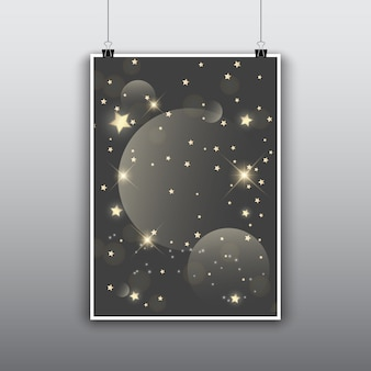 Poster with moons and stars