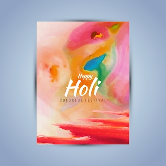 Poster with red watercolors for holi