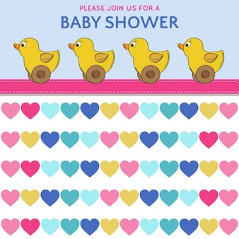 Poster with toy ducks for baby shower
