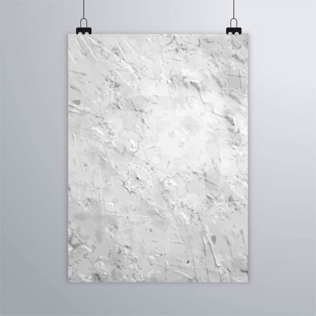 Poster with wall texture