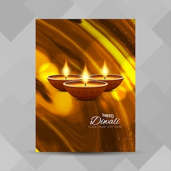 Poster with warm lights for diwali