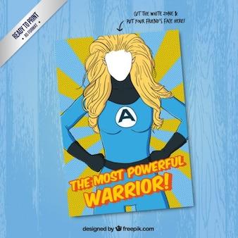 Powerful warrior card