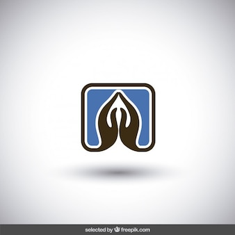 Praying hands logo