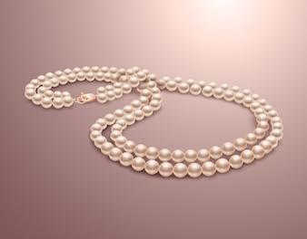 貴重な真珠のネックレス