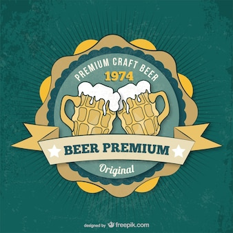 Premium beer badge