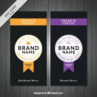 Premium cheese banners