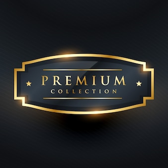 Premium gold label