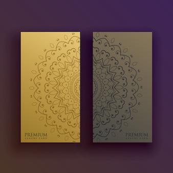 Premium mandala card decoration design