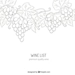 Premium quality wine drawing
