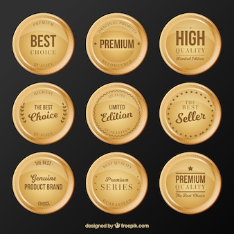 Premium round stickers collection