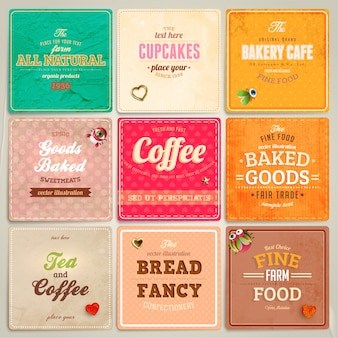 Premium tags ornament set retro