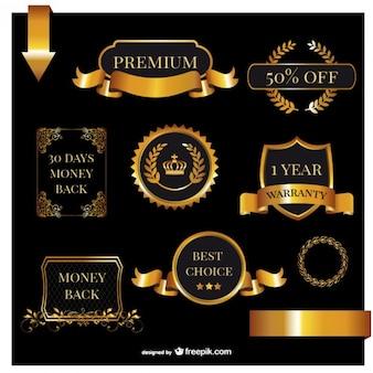 Premium warranty labels pack