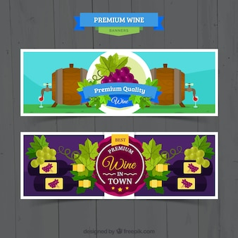 Premium wine banners