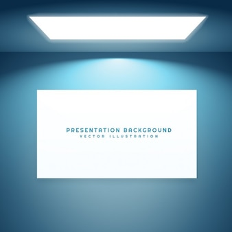 Presentation frame in empty room