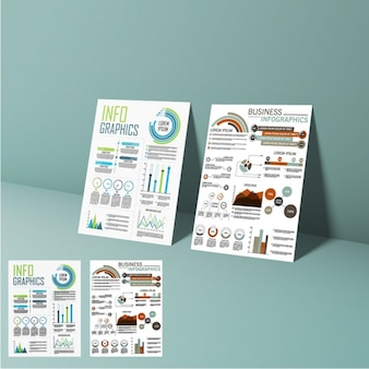 Presentation of business infographic elements