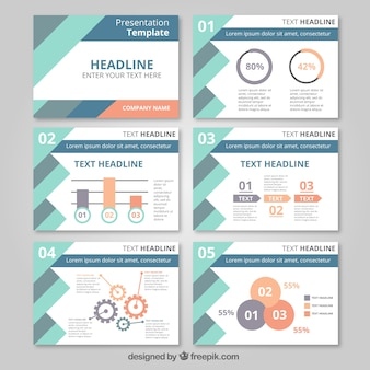 Presentation template with infography