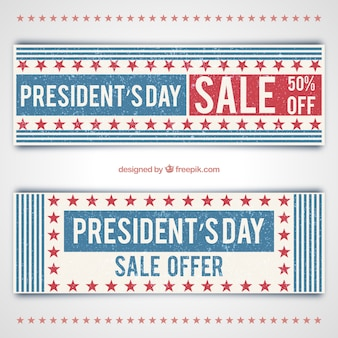 President day sale banners