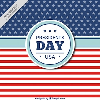 President's day background in flat design