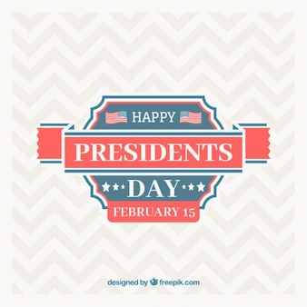 President's day background with zigzag lines