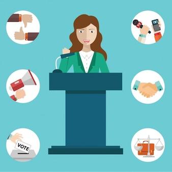 Press conference design
