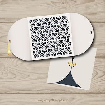 Pretty and elegant wedding card