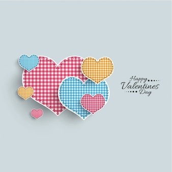 Pretty background with checkered hearts