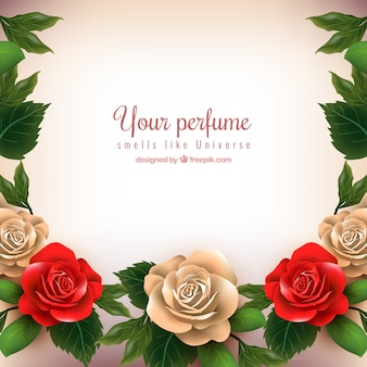 Pretty background with realistic roses