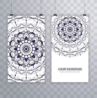 Pretty banners of mandalas