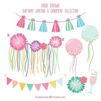 Pretty birthday decoration pack