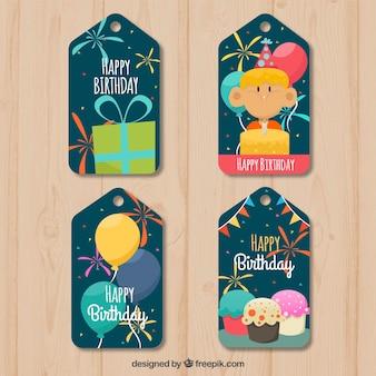 Pretty birthday tags