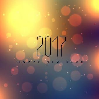 2017年、新しい年とボケの背景