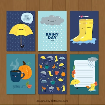 Pretty cards with autumnal motifs
