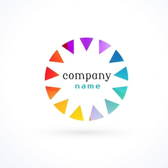 Pretty circular logo in full color