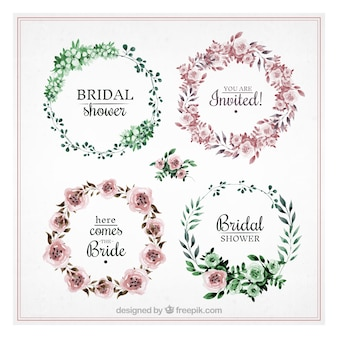 Pretty collection of round bridal shower frames