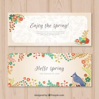 春のためにかなり花のバナー