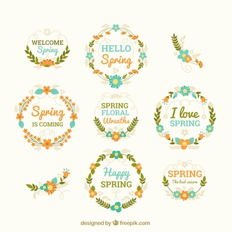 Pretty floral wreaths for spring