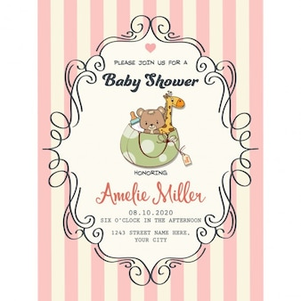 Baby Shower Invitation Card Template is good invitation template