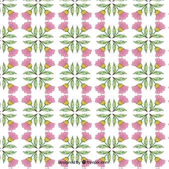 Pretty hand drawn floral decorative pattern