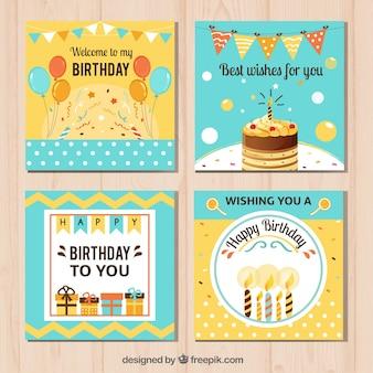 Pretty happy birthday cards