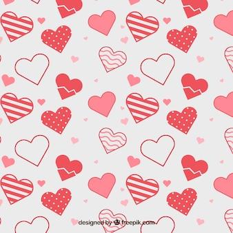 Pretty hearts background